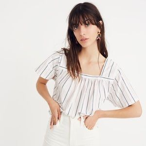MADEWELL Striped Square-Neck Top